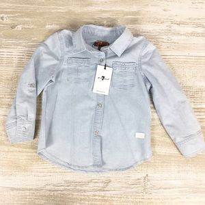 KIDS: NWT 7 for all mankind chambray button down
